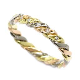 クリスチャン ディオール ダイヤ 22号 リング K18YG/WG/PG 18金 スリーカラー ゴールド 750 指輪  Dior 【BJ】★