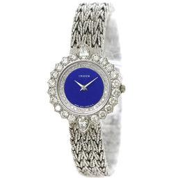 セイコー クレドール レディース 腕時計 ジュエリー ウォッチ 1E70 2030 ダイヤ K18WG 【腕時計】★