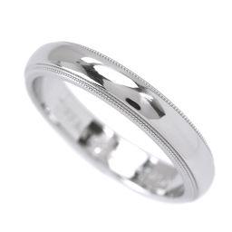 ティファニー TIFFANY&Co. ミルグレイン バンド 幅4mm リング 17号 PT950 プラチナ 指輪 【BJ】★