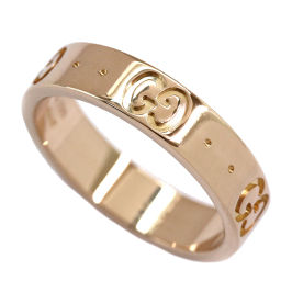 Gucci GUCCI Icon ring # 7 K 18 PG 18 gold pink gold 750 ring [BJ] ★