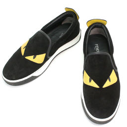 Fendi Monster Bugseye Studs Slip-on Sneakers Suede Leather 6 [Small] ★