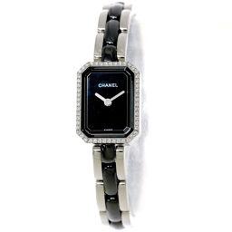 シャネル CHANEL プルミエール H2163 ダイヤ レディース 腕時計 ブラック セラミック 【腕時計】★