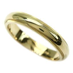 ティファニー ミルグレイン バンド 17号 リング K18YG 幅4mm 750 18金イエローゴールド 指輪 TIFFANY&Co. 【BJ】★