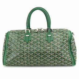 Goyal GOYARD Croix Jules 40 Boston Bag Herringbone Green Leather [Brand] ★
