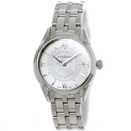 Versace VERSACE Daphne Ladies Watch VFF White Shell Dial Watch [Watch] ★