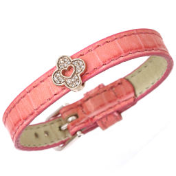 Samantha Tiara Diamond 0.17ct Bracelet K18PG Leather Pink Gold Samantha Tiara [BJ] ★