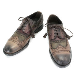 Unused exhibits Dolce & Gappana business shoes leather Brown gradation 6 24.5 [small goods] ★