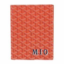 Goyal GOYARD herringbone notebook cover book cover PVC leather orange [Brand] ★