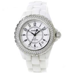 シャネル CHANEL J12 H0969 38mm ベゼルダイヤ メンズ 腕時計 ホワイト セラミック ウォッチ 【腕時計】★