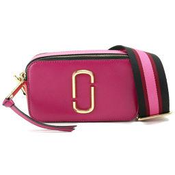 Unused Marc Jacobs Snapshot Shoulder Bag Leather Purple Pink [Brand] ★