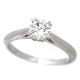 Harry Winston Diamond 0.56ct D / VS 1/3 / 3XE Solitaire ring No. 8 PT Platinum HW [with certificate · certificate] [BJ] ★