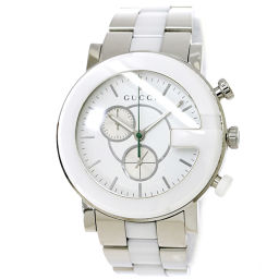 Gucci GUCCI G Chrono YA101345 Chronograph Men's Watch White Watch [Watch] ★