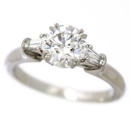 Harry Winston Diamond 1.12ct F / VS 1/3 / 3EX Round Classic Ring No. 9 Platinum HW certificate with certificate [BJ] ★