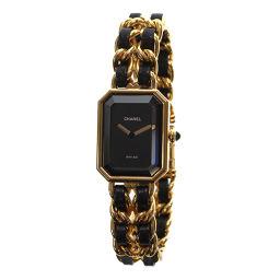 シャネル CHANEL プルミエール Mサイズ H0001 レディース 腕時計 ブラック 文字盤 【腕時計】★