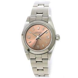 Rolex ROLEX Oyster Perpetual 76080 K Women's Watch Pink Dial [Watch] ★