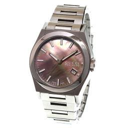 グッチ GUCCI パンテオン YA115401 ボーイズ 腕時計 115.4 デイト ブラックシェル 【腕時計】★