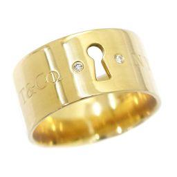 ティファニー ロック ダイヤ リング 11号 K18YG 18金イエローゴールド 750 指輪 TIFFANY&CO. 【BJ】★