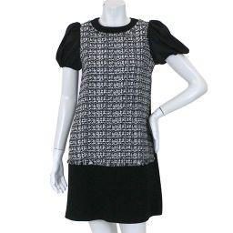 Foxy FOXY dress short sleeve tweed black white size 40 ladies [apparel] ★