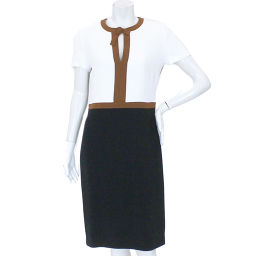 Burberry Prorsum color scheme one piece short sleeve black white size 42 ladies [apparel] ★