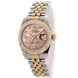 ロレックス ROLEX デイトジャスト 179171N2BR ダイヤ レディース 腕時計 ピンクゴールド 【腕時計】★