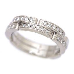 カルティエ マイヨン パンテール #46 ダイヤ リング K18WG 18金ホワイトゴールド 750 指輪 【証明書付き】 【BJ】★