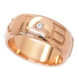 ブルガリ BVLGARI モノロゴ ダイヤ リング #54 K18PG 18金ピンク 750 指輪 【BJ】★