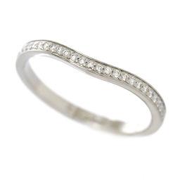 カルティエ バレリーナ カーブ ダイヤ #56 リング Pt950 プラチナ ハーフ 指輪 Cartier 【BJ】★