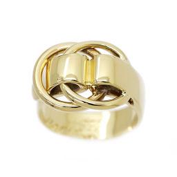 エルメス HERMES ドゥザノー リング 9号 K18YG 18金イエローゴール 750 指輪 【BJ】★