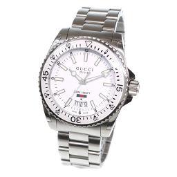 グッチ ダイヴ YA136302 メンズ 腕時計 デイト ホワイト 文字盤 クォーツ ウォッチ 【腕時計】★