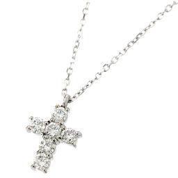 Vendome Aoyama Diamond 0.30ct Cross Necklace 40cm Pt Platinum Diamond Vendome [BJ] ★