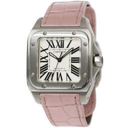 カルティエ Cartier サントス100 MM W20106X8 ボーイズ 腕時計 シルバー 文字盤 【腕時計】★