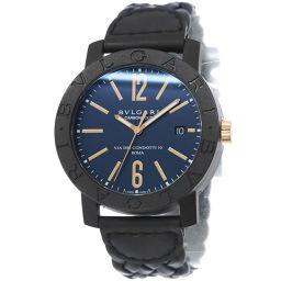 ブルガリ BVLGARI ブルガリブルガリ BB40CL メンズ 腕時計 ネイビー 文字盤 カーボン 【腕時計】★