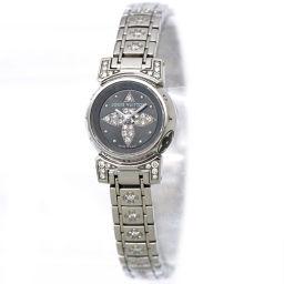 ルイ ヴィトン タンブール ビジュ Q151K レディース 腕時計 ダイヤモンド グレー 文字盤 クォーツ 【腕時計】★