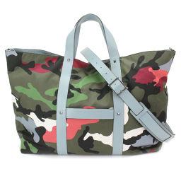 Unused Valentino Galavani Camouflage Rockstud Tote Bag Nylon [Brand] ★