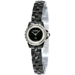 シャネル J12 XS H5235 レディース 腕時計 ダイヤ ブラック 文字盤 ブラック セラミック クォーツ 【腕時計】★