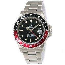 ロレックス ROLEX GMTマスター2 16710 W番 トリチウム 赤黒ベゼル メンズ 腕時計 デイト 【腕時計】★