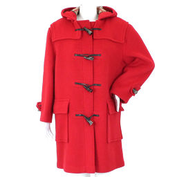 Burberry's Burberrys Duffle Coat Red Wool Ladies [Apparel] ★