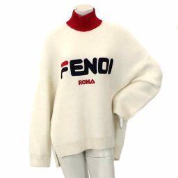 フェンディ FILA オーバーサイズ ニット セーター ホワイト 42 レディース 【アパレル】★