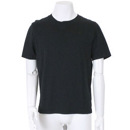 Balenciaga T-shirt Short Sleeve Solid Color Crew Neck Cotton Black Size M Men [Apparel] ★