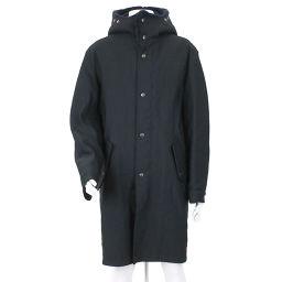 バレンシアガ BALENCIAGA ボア付き コート ブラック ネイビー サイズ 46 メンズ 【アパレル】★