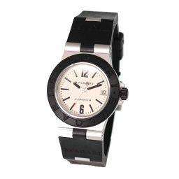 ブルガリ BVLGARI アルミニウム AL32A レディース 腕時計 デイト シルバー ウォッチ 【腕時計】★
