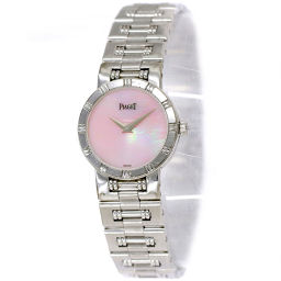 Piaget Dancer 80563 K81 Ladies Watch K18WG 750 Pink Shell Dial Quartz [Watch] ★