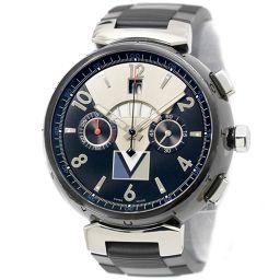 Louis Vuitton Tambour Regatta Chronograph LV Cup Q102G Men's Watch Back Skeleton Automatic winding [Watch] ★