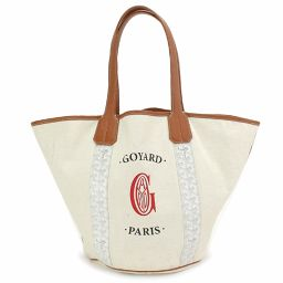Goyar Berara Marcage Tote Bag Reversible PVC Canvas White [Brand] ★