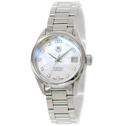 TAG Heuer Carrera WAR2414 BA0770 Ladies watch 12P diamond White shell Dial Automatic winding [Watch] ★
