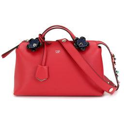 Fendi By The Way Medium 2way Hand Shoulder Bag Flower Leather 8BL124 [Brand] ★