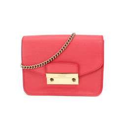 Furla FURLA Metropolis Mini Chain Shoulder Bag Leather Pink [Brand] ★