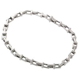 Tiffany T narrow chain bracelet 19cm silver M size SV 925 TIFFANY & Co. [BJ] ★