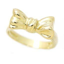 Tiffany Ring No.12 K18YG Ribbon Motif 18K Yellow Gold 750 Ring TIFFANY & CO. [BJ] ★