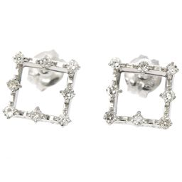 Samantha Tiara Diamond 0.075ct / 0.075ct Earrings K18WG 18K White Gold [BJ] ★